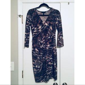 BCBG. Patterned Wrap Dress